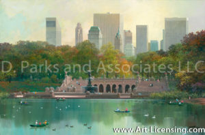 New York-Central Park Lake-by Alexander Chen