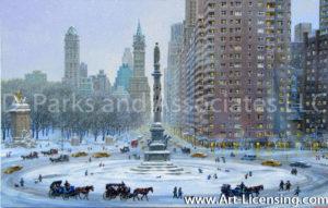 New York -Columbus Circle Winter Wonderland-by Alexander Chen