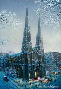 New York-St Patricks Winter-by Alexander Chen