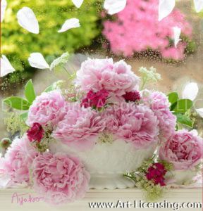 1488S-Pink Peony Bouquet