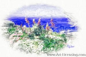 002SRH-Ocean View Flower Garden