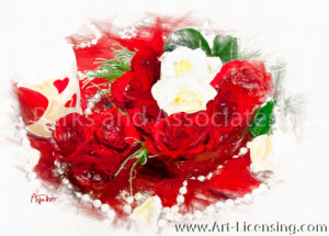 0082SRH-Valentine Red and White Roses
