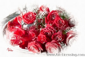 0099SRH-Red Roses on the Tray