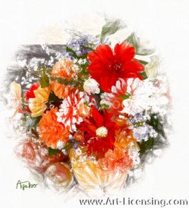 0474SRH-Dahlia Bouquet
