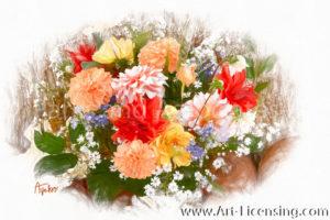 0503SRH-Dahlia Bouquet