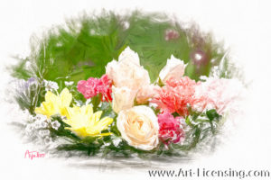 1065SRH-Rose and Spring Bouquet
