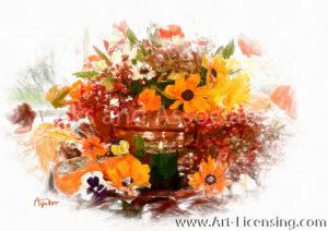 1098SRH-Autumn Flowers Arrangement