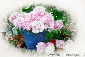 1419SRH-Pink Peony Bouquet