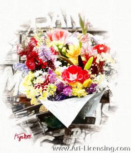 1668SRH-Summer Flower Bouquet