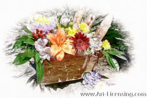 2248SRH-Flowers Basket