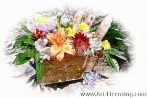2248SRH-Flowers Basket