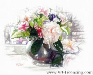 6817SRH-Spring flower arrangement