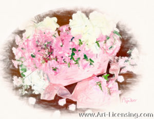 7883SRH-Pink and White Azalea Bouquet