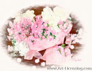 7883SRH-Pink and White Azalea Bouquet