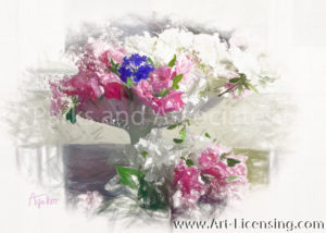 8008SSRH-Azalea Spring flower arrangement