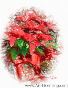 8733SRH-Christmas Red Poinsettia