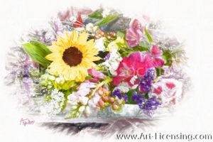 8768SRH-Sunflower and Summer Bouquet