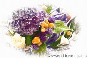 9777SRH-Hydrangea Bouquet