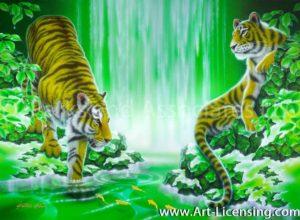 Bengal Tiger-Melting of Snow
