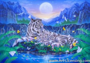 White Tiger-Mother and Childrean 2