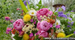 8784S-Peony Bouquet