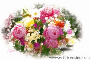 8797SRH-Peony Bouquet