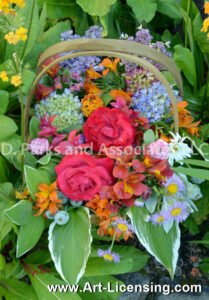 9634S-Roses and Spring Flower Bouquet