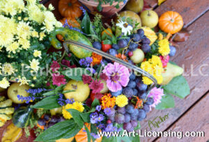 2113S-Harvest Flowers and Fruits