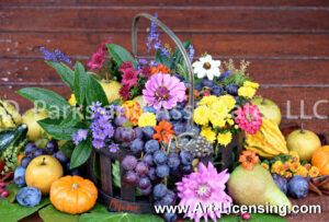 2154S-Harvest Flowers and Fruits