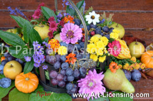 2161S-Harvest Flowers and Fruits
