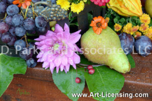 2164S-Harvest Flowers and Fruits