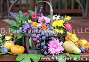 2168S-Harvest Flowers and Fruits