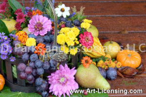 2188S-Harvest Flowers and Fruits