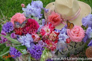 7711S-Roses-Campannula-lris-Butterflys
